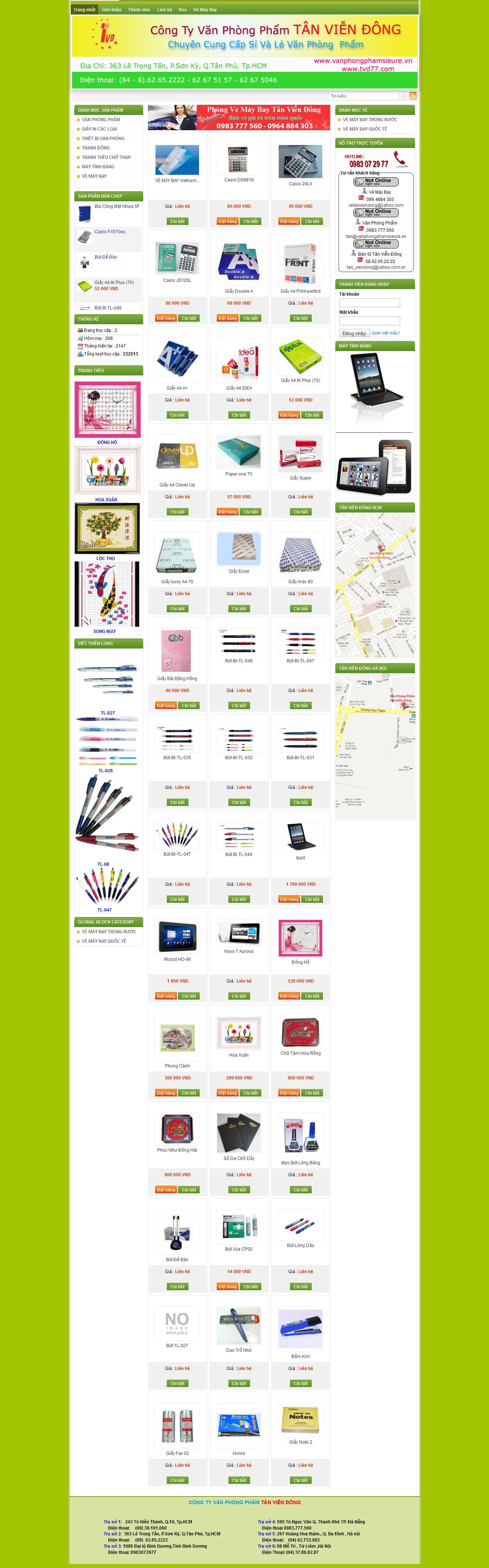 Mẫu website văn phòng phẩm 10488