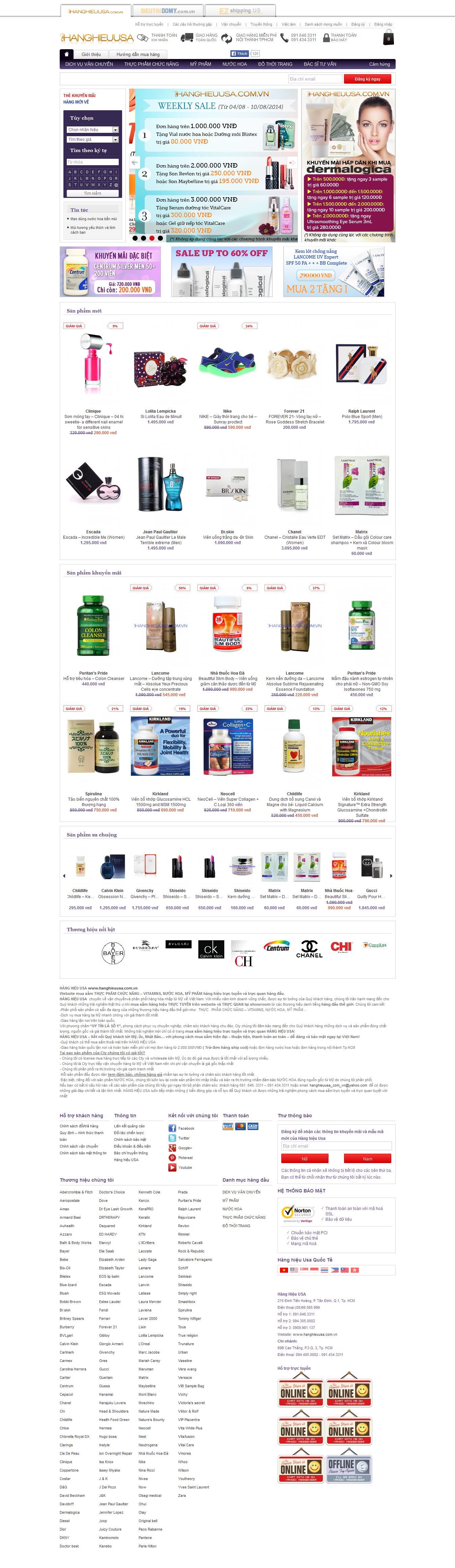 Mẫu website mỹ phẩm 10469
