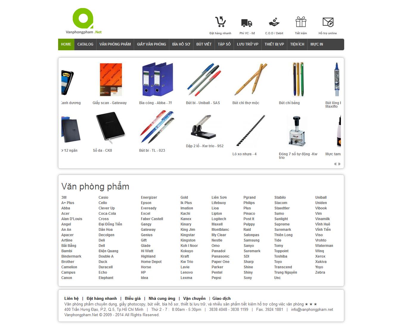 Mẫu website văn phòng phẩm 10491