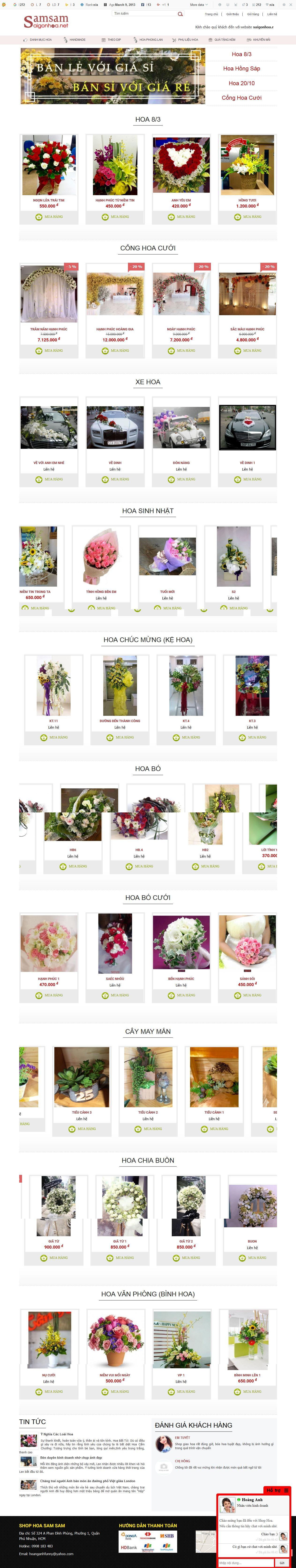 Mẫu website bán hoa 10109