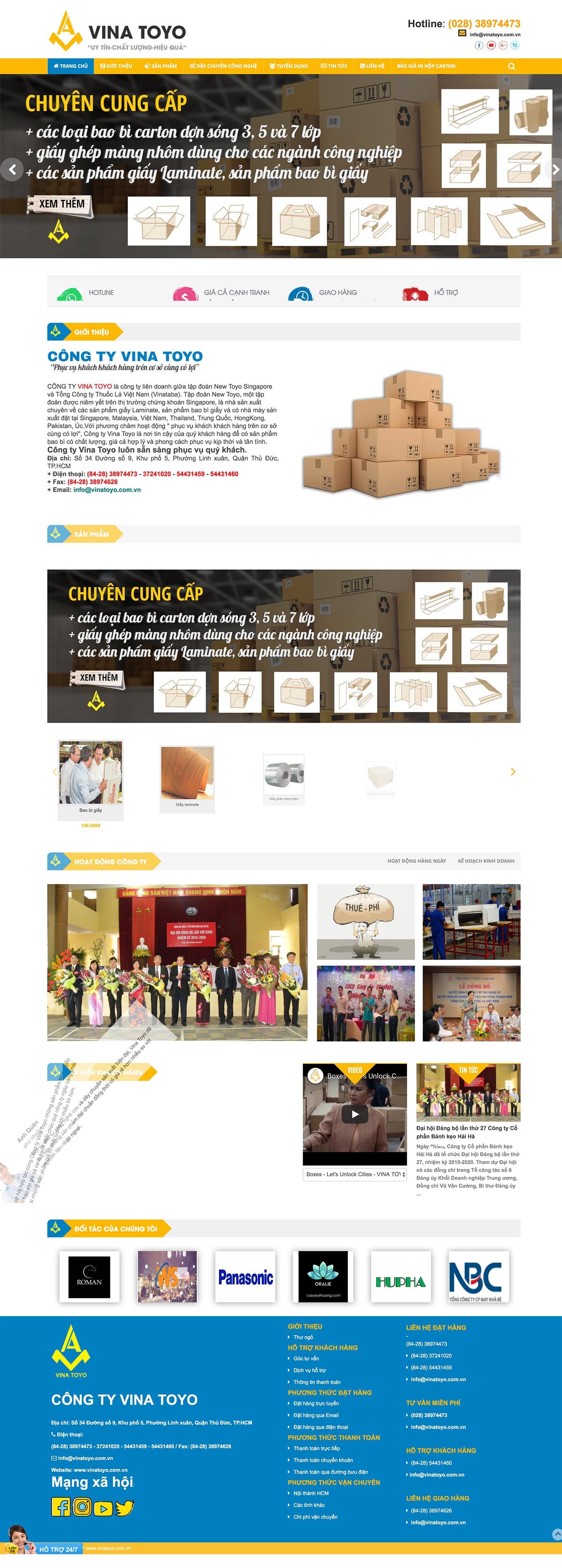 Mẫu website bao bì carton 13490