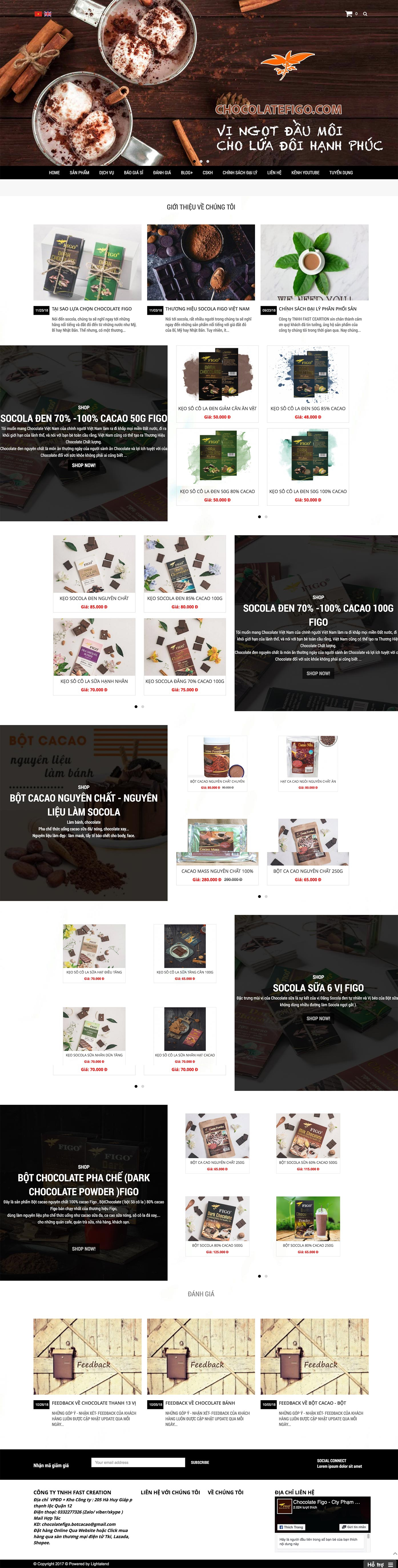 Mẫu website chocolate 13520
