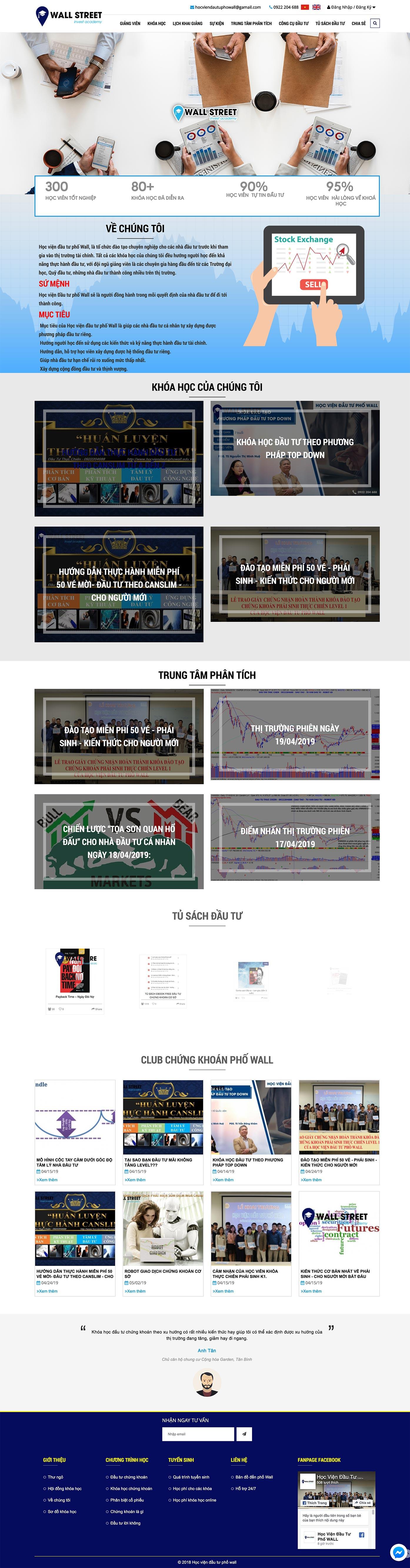 Mẫu website đào tạo 13487