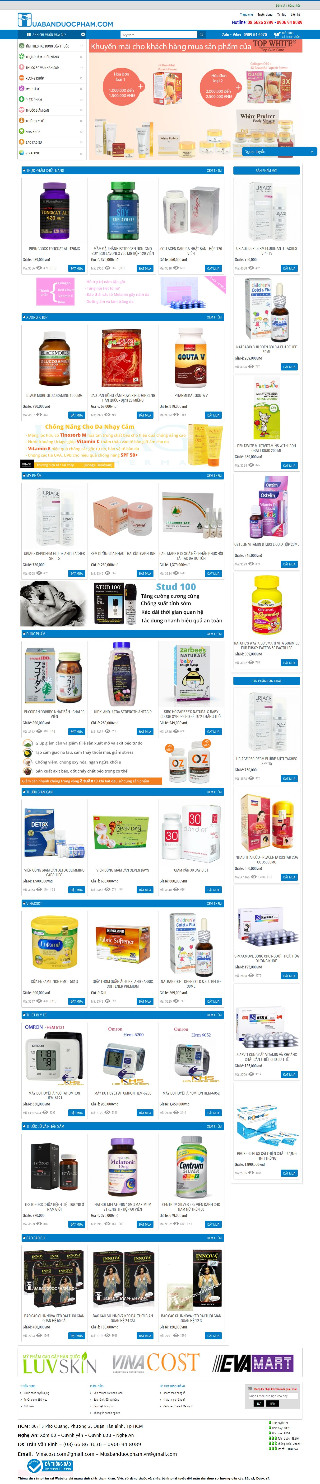 Mẫu website dược phẩm 10507