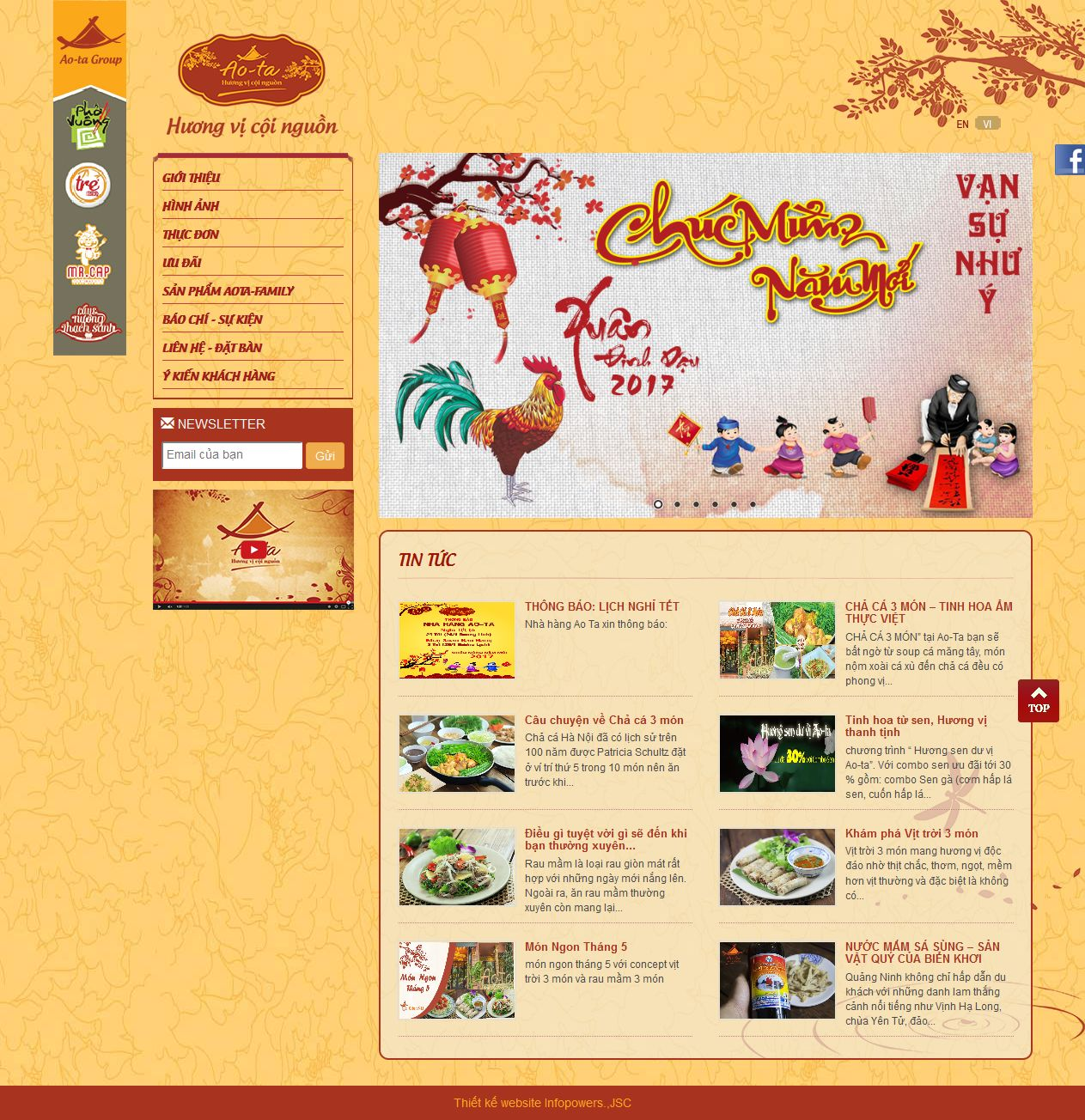 Mẫu website nhà hàng 10369