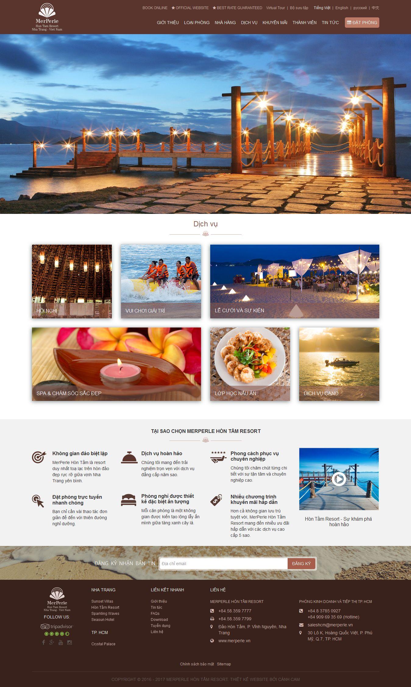Mẫu website nhà hàng khách sạn 10443