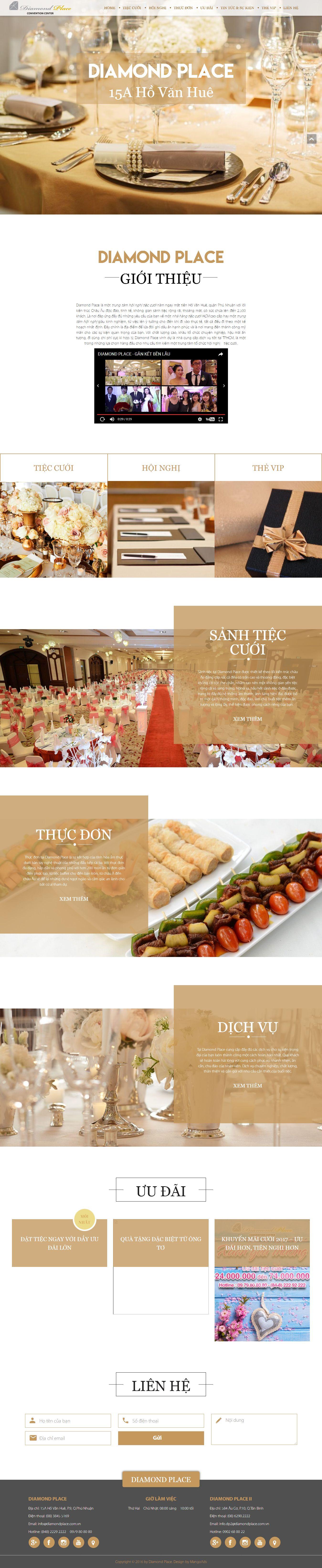 Mẫu website nhà hàng - tiệc cưới 13472