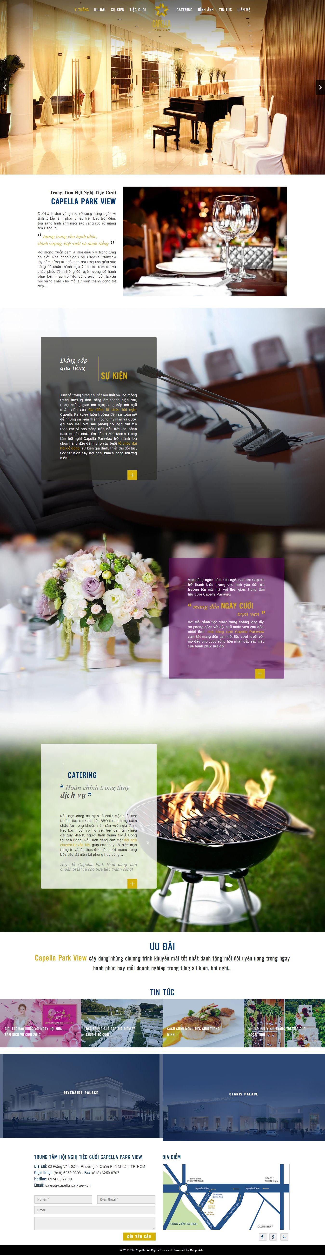 Mẫu website nhà hàng - tiệc cưới 13475