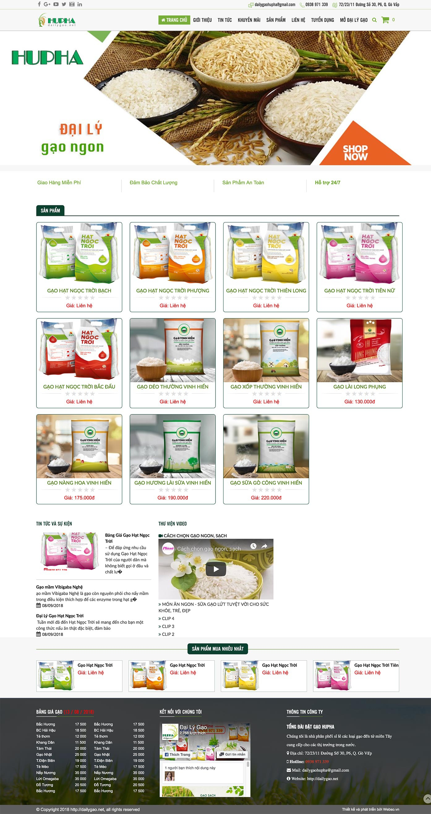 Mẫu website nông sản13522