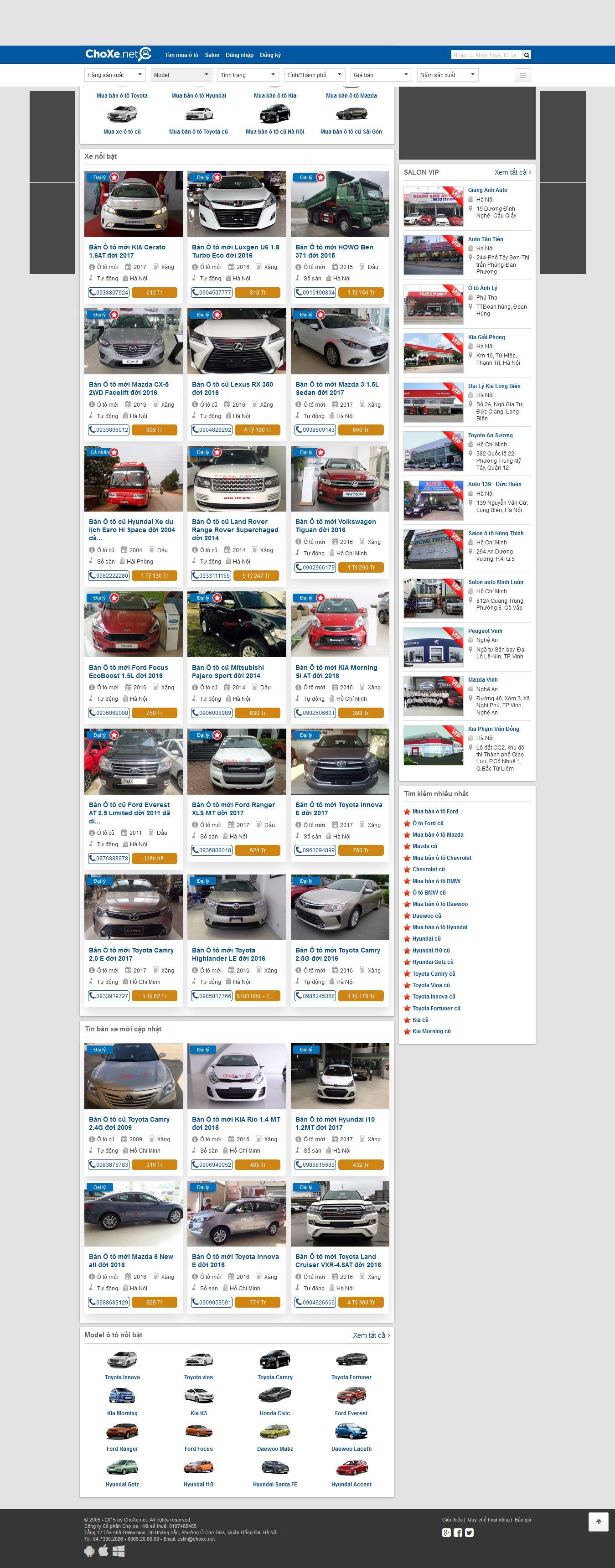 Mẫu website Ôtô 10259