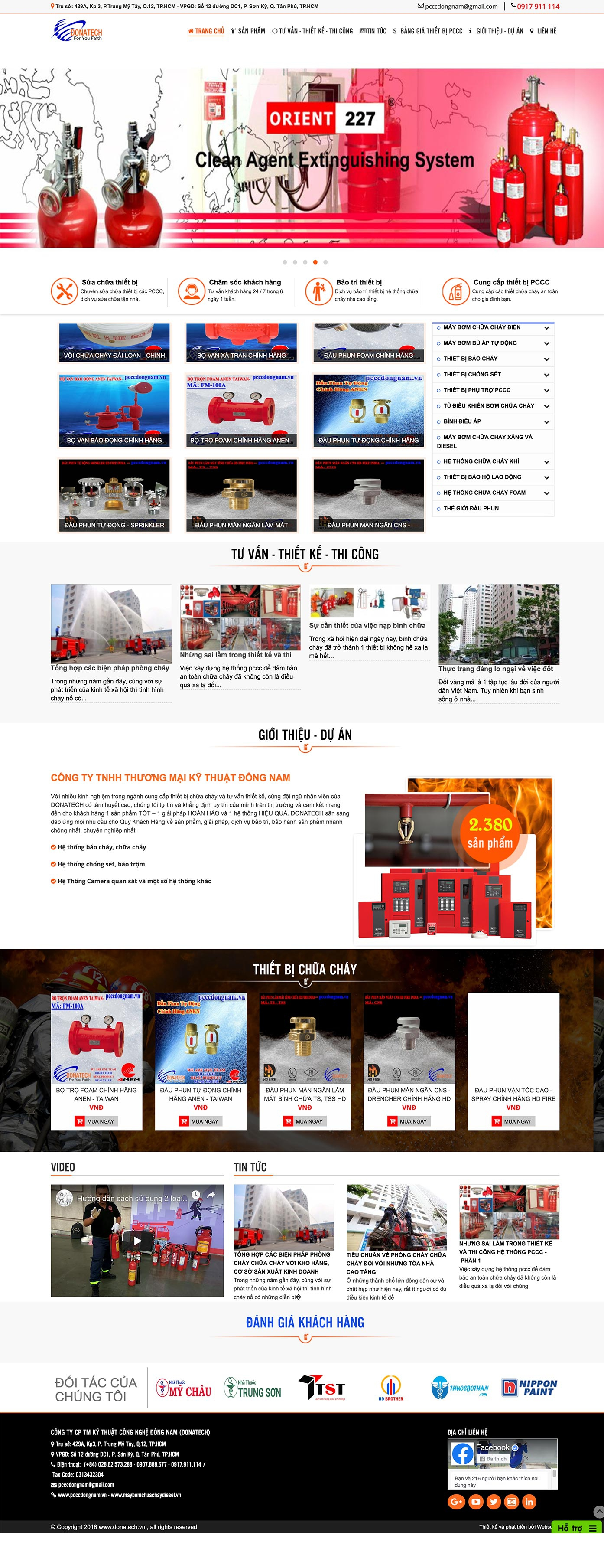 Mẫu website pccc 13491