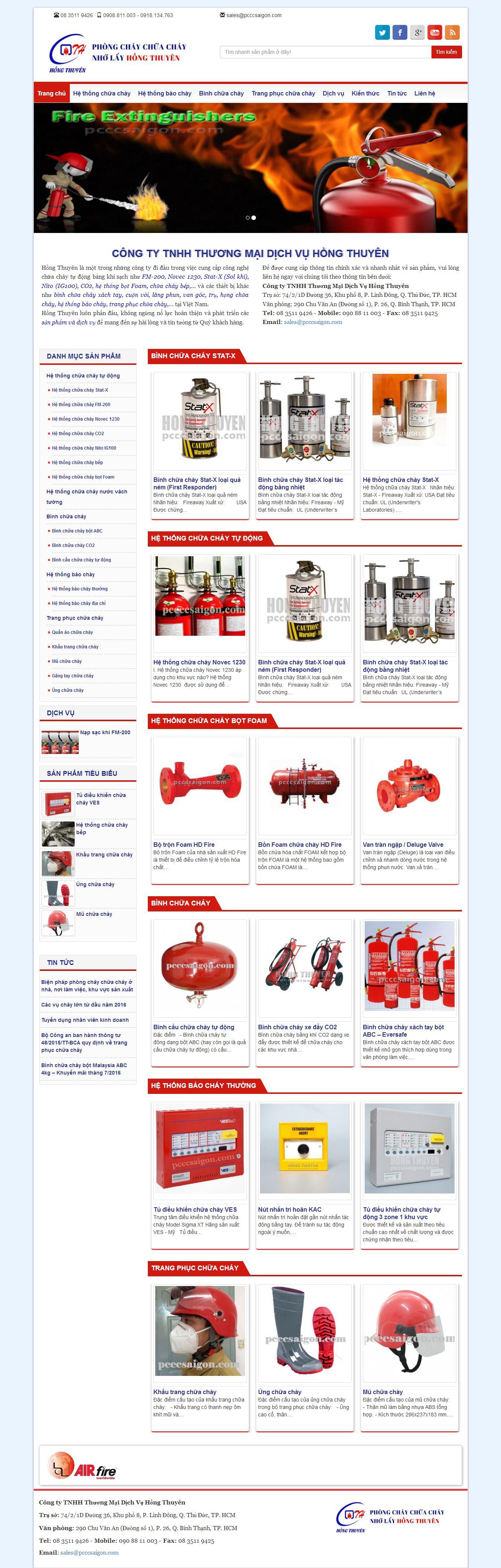 Mẫu website phòng cháy chữa cháy 2344