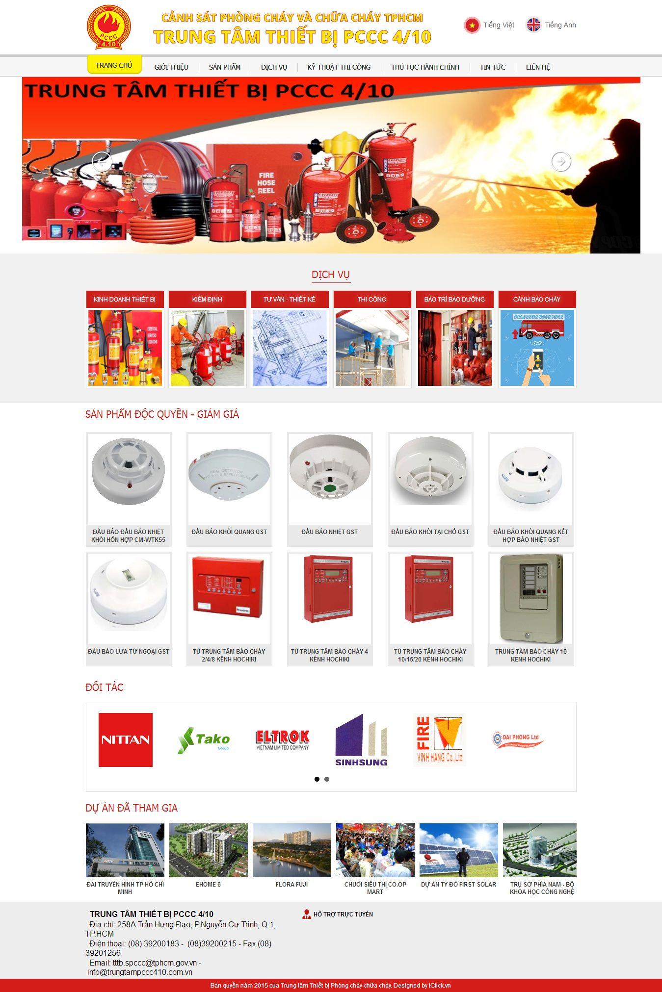 Mẫu website phòng cháy chữa cháy 2346