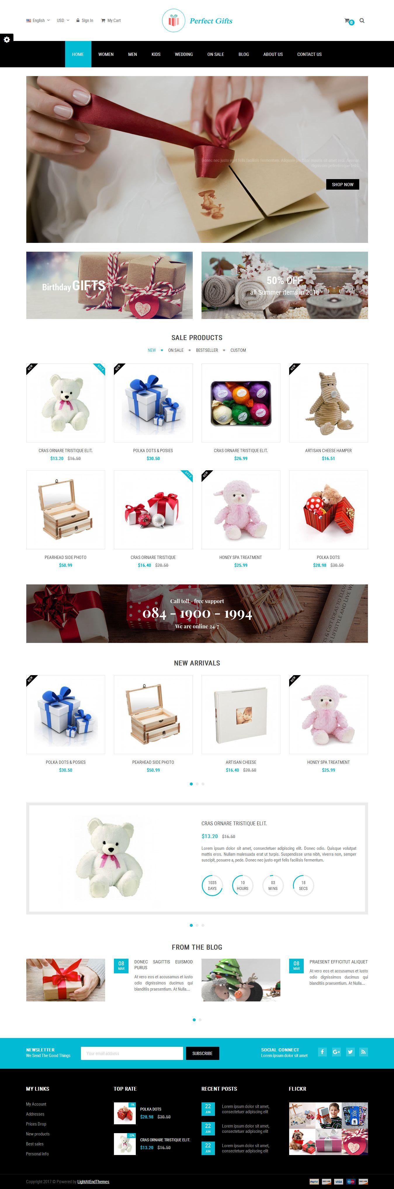 Mẫu website quà tặng 3242