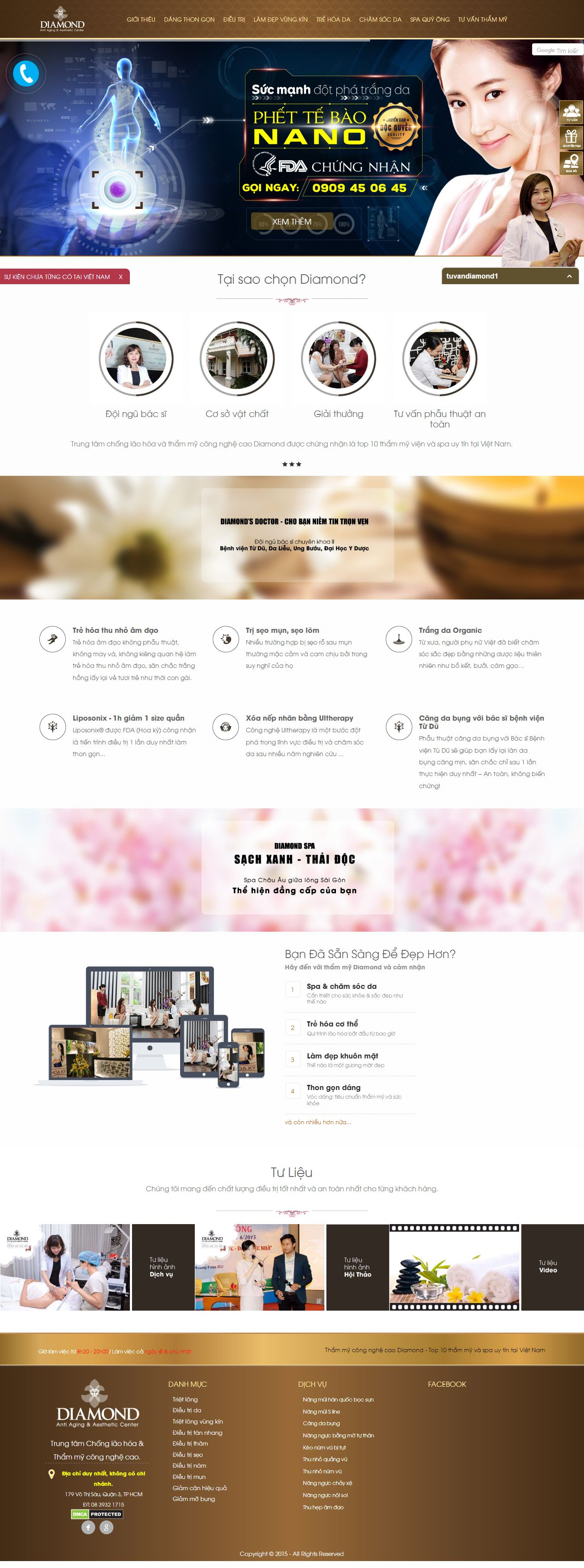 Mẫu website Spa 6464