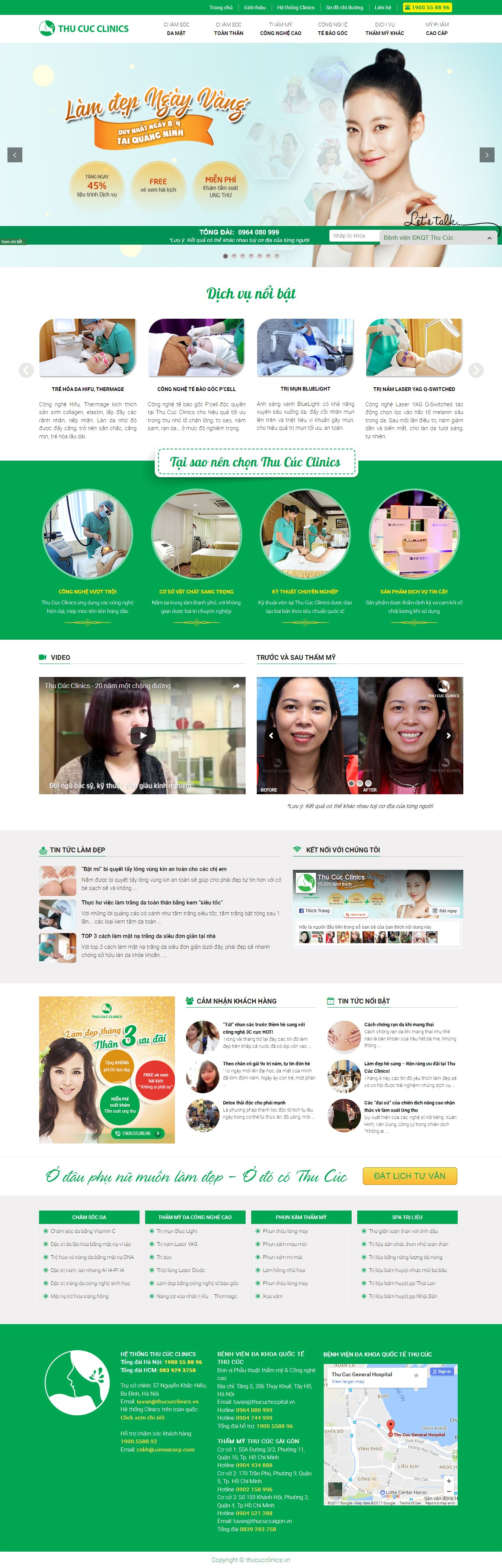 Mẫu website Spa 6465