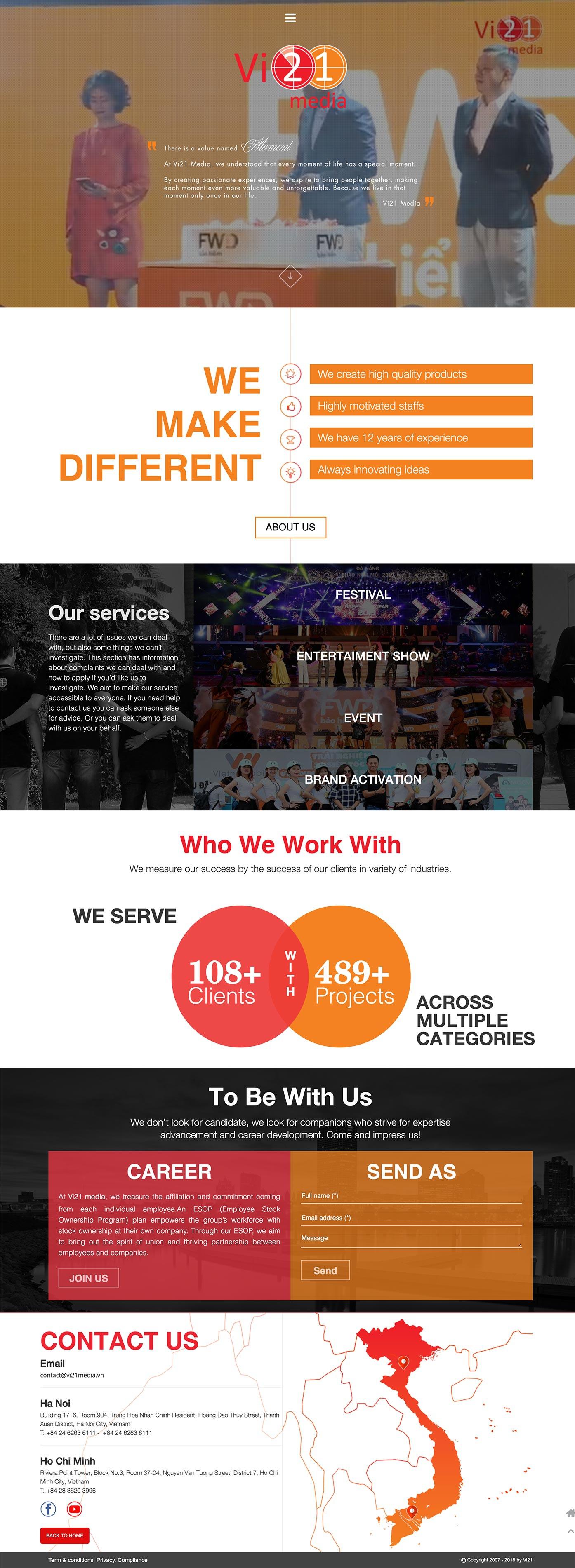 Mẫu website sự kiện,truyền thông 13498