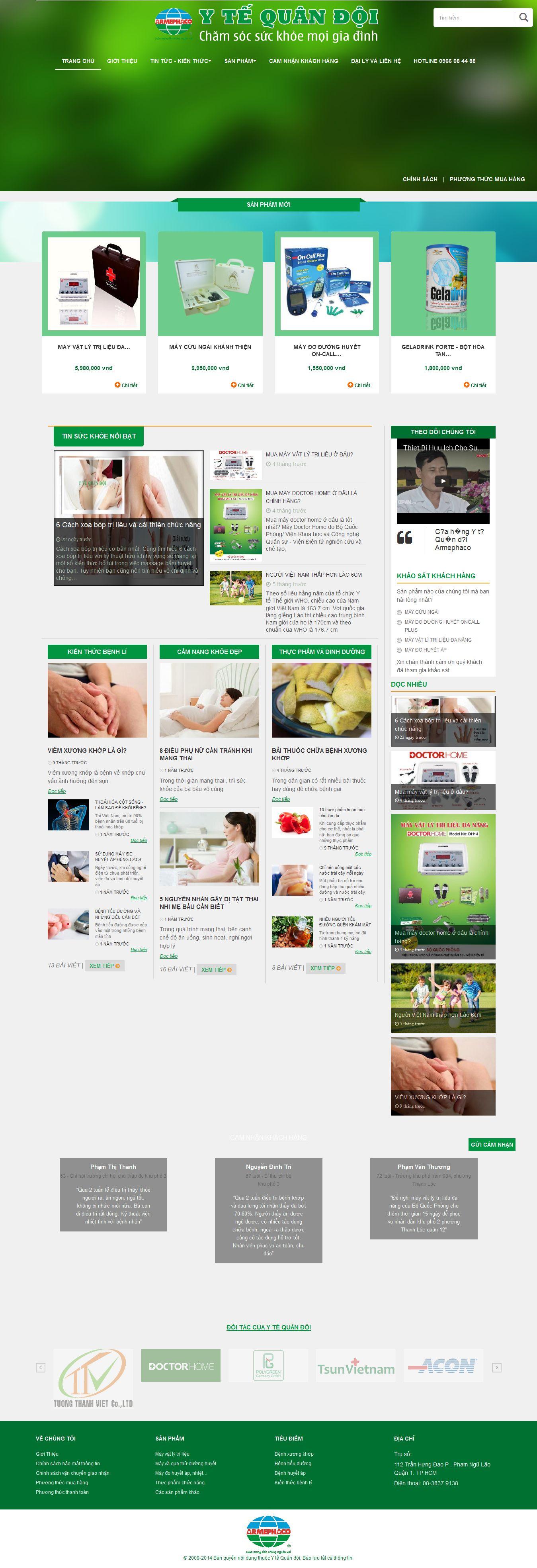 Mẫu website thiết bị y tế 10453