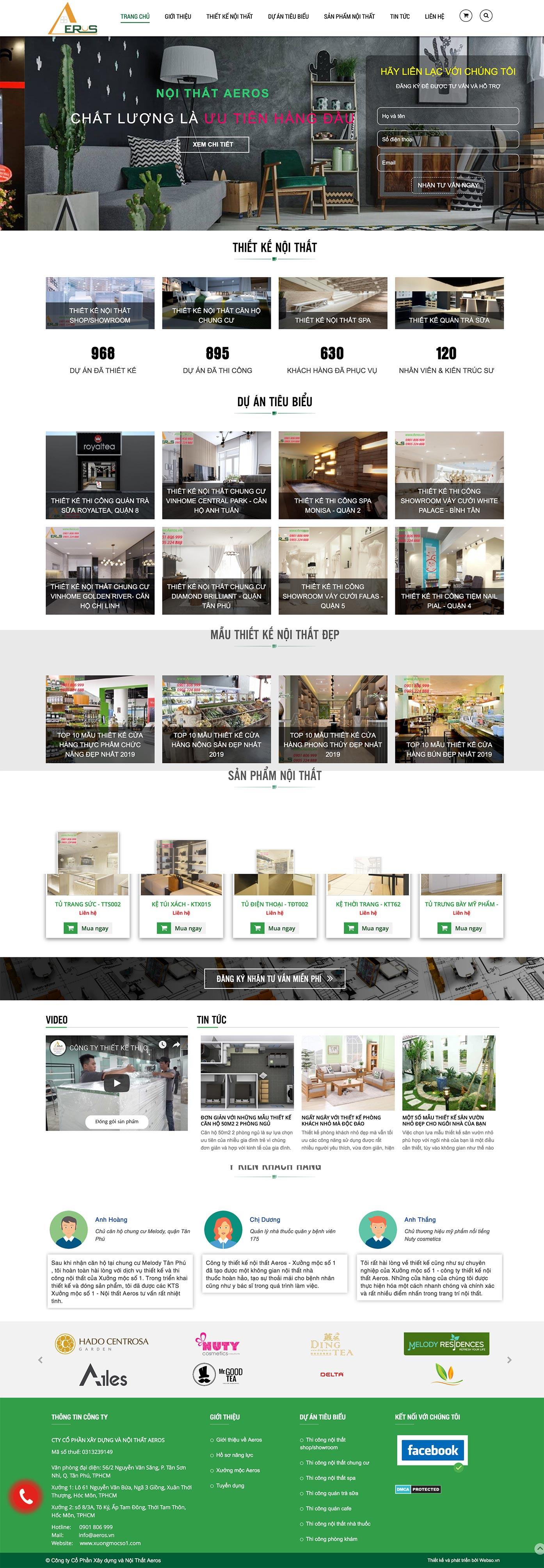 Mẫu website thiết kế nội thất 13511