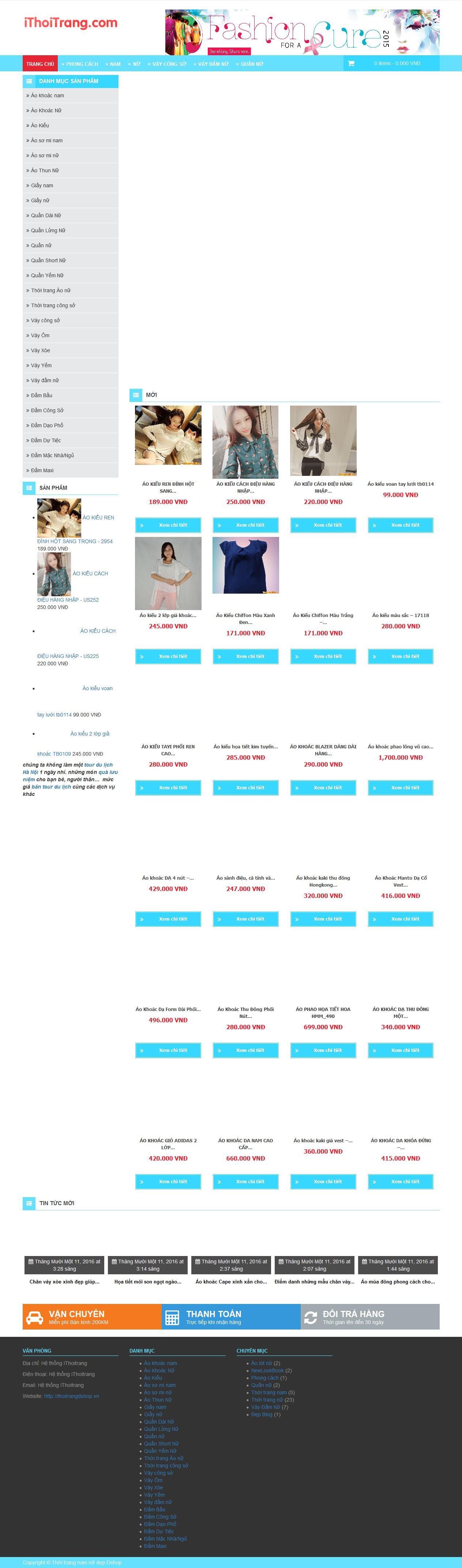 Mẫu website thời trang 10335