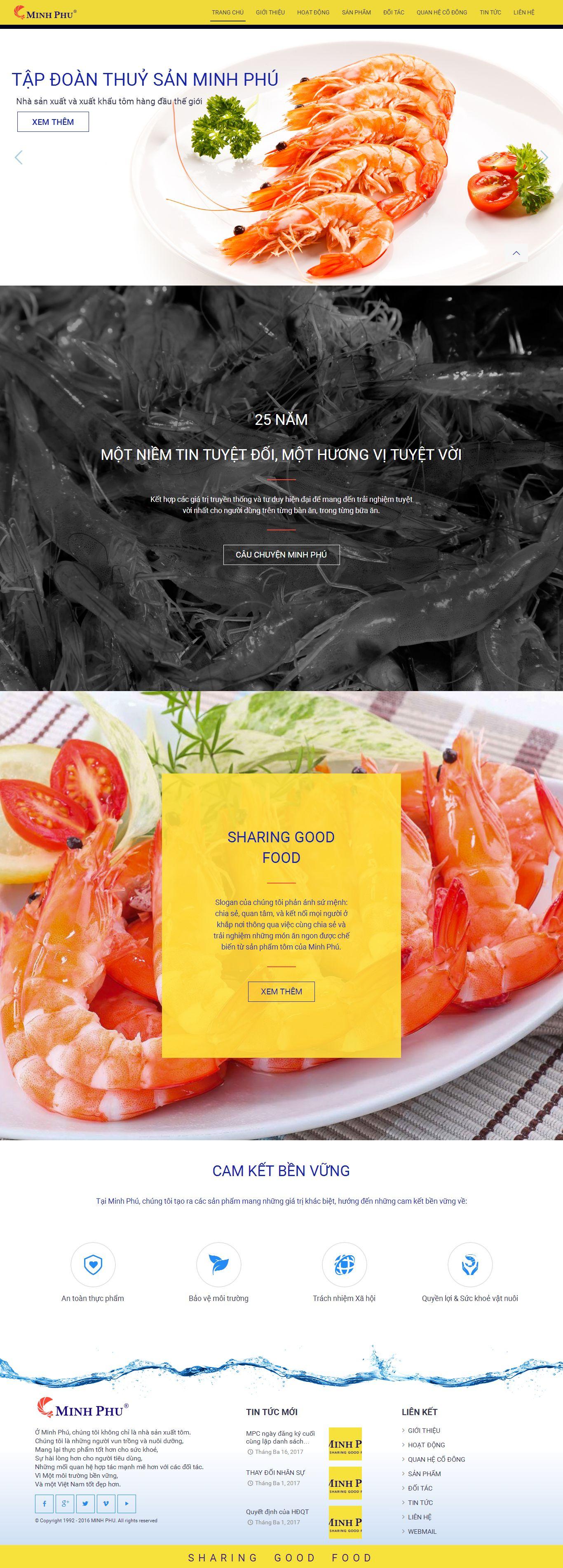 Mẫu website thủy sản 23452