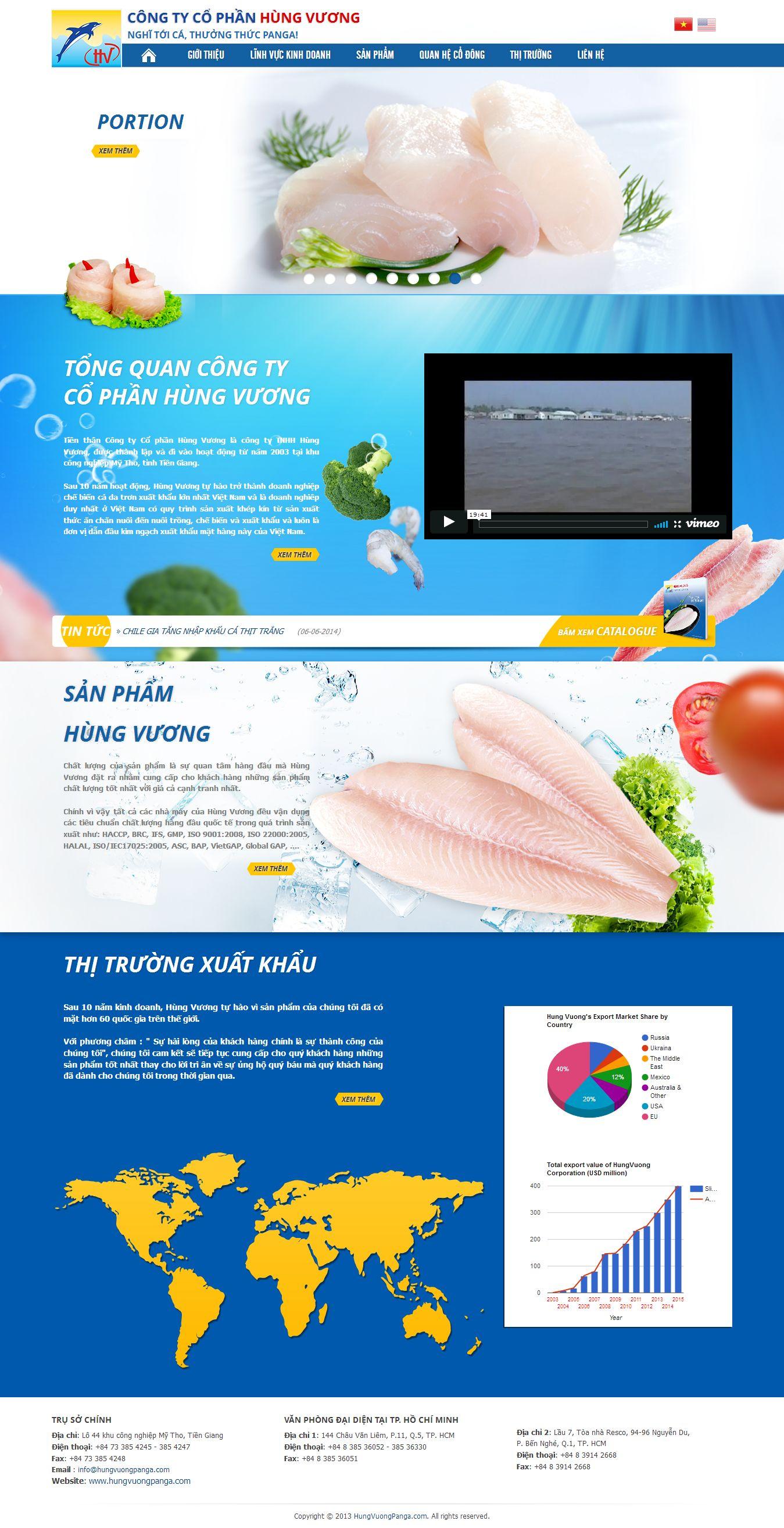 Mẫu website thủy sản 23523