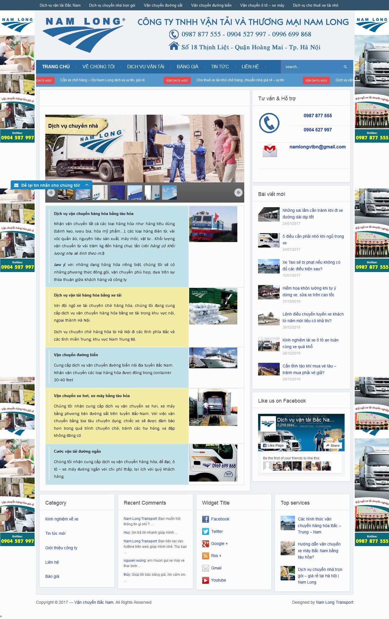 Mẫu website vận chuyển 10420