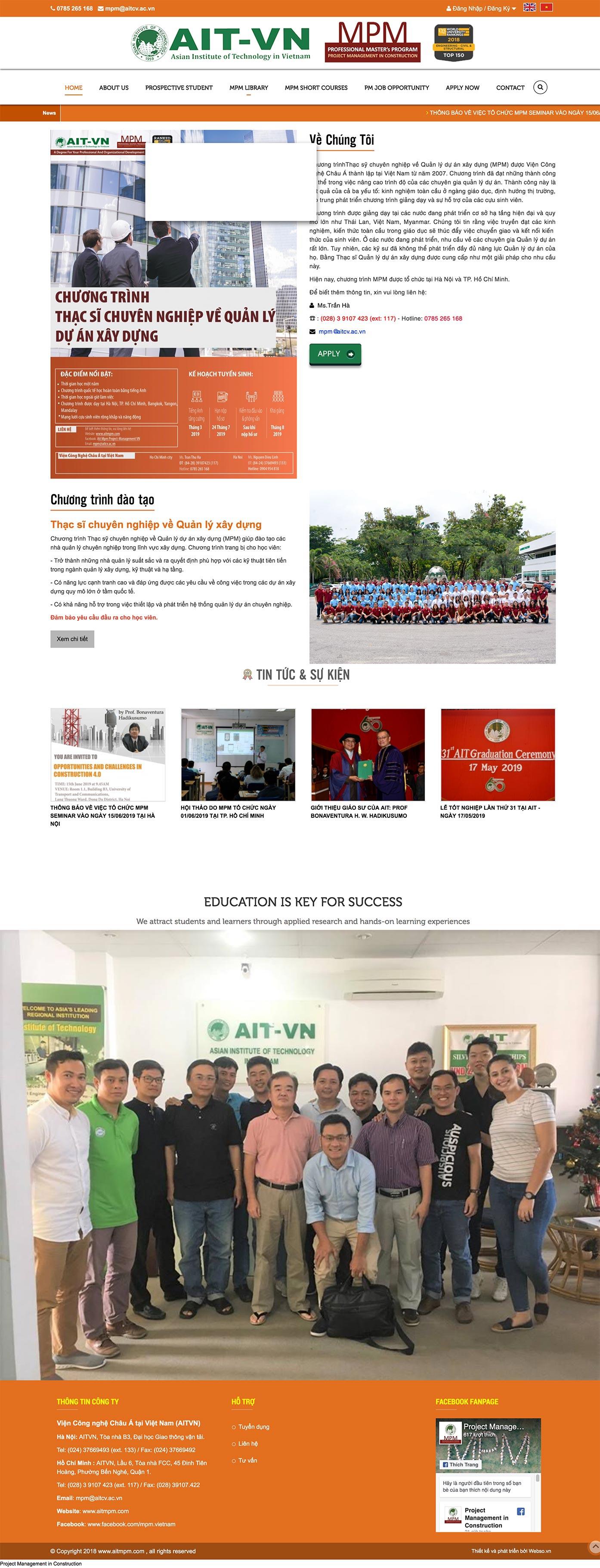 Mẫu website viện công nghệ 13509