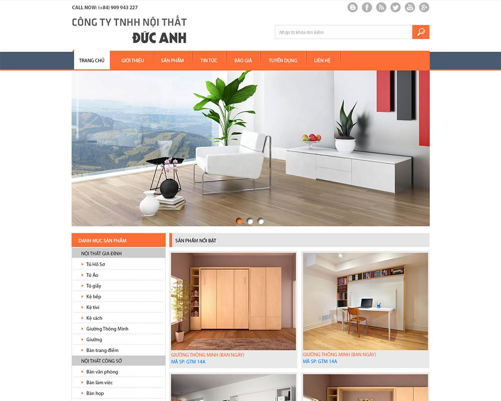 Mẫu website nội thất 10506