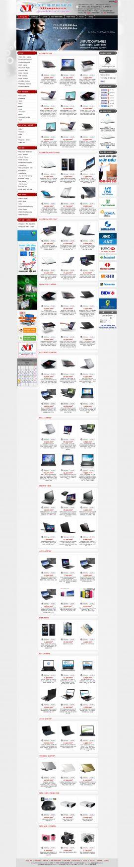 Mẫu website bán hàng điện tử 10186