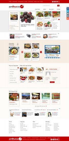 Mẫu website món ngon 10354