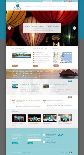 Mẫu website nhà hàng, khách sạn 10433