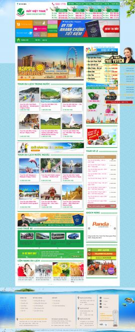 Mẫu website du lịch 1049
