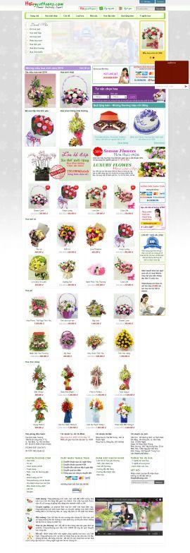 Mẫu website bán hoa 10107