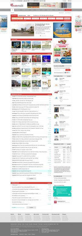 Mẫu website bất động sản 1020
