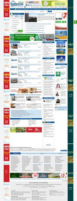Mẫu website bất động sản 1021