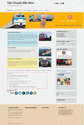 Mẫu website vận chuyển 10415