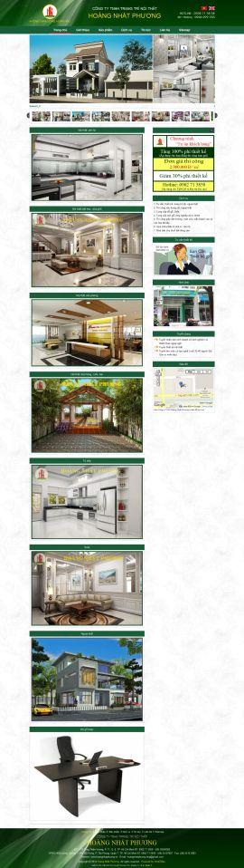Mẫu website thi công nội thất - xây dựng 10229