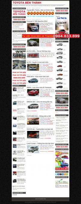 Mẫu website giới thiệu xe 10250