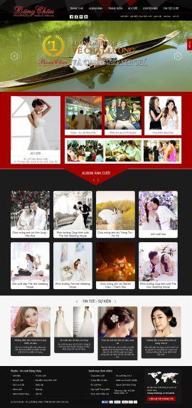 Mẫu website áo cưới 10318