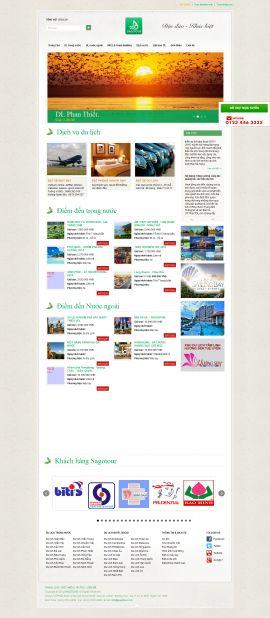 Mẫu website du lịch 1052