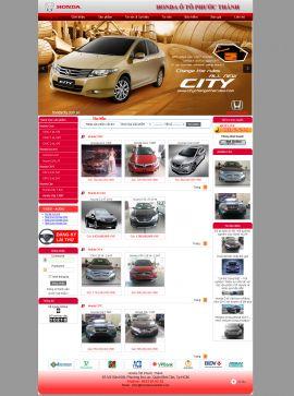 Mẫu website giới thiệu xe 10251