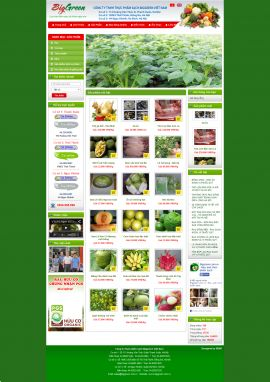 Mẫu website thực phẩm 10299