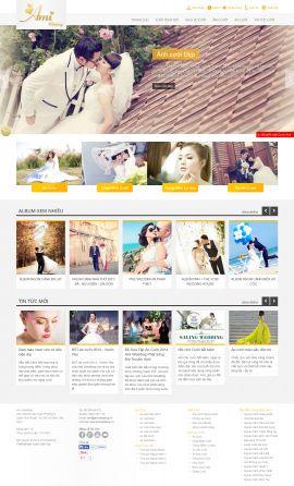 Mẫu website áo cưới 10319