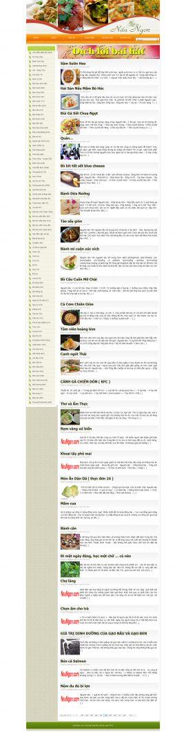 Mẫu website nấu ăn 10357