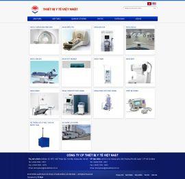 Mẫu website thiết bị y tế 10450