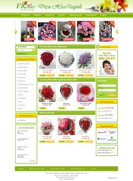 Mẫu website bán hoa 10111