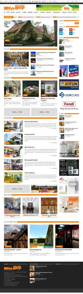 Mẫu website thiết kế nội thất 10152