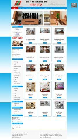 Mẫu website thi công nội thất - xây dựng 10231