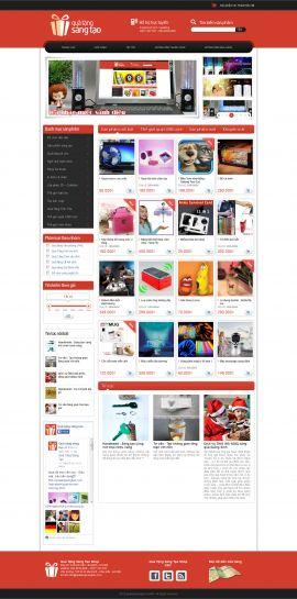 Mẫu website quà tặng  10270